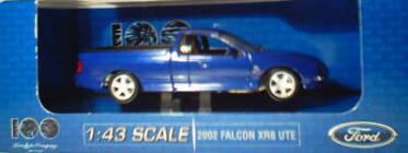 1:43 2002 Falcon XR8 Ute - Narooma Blue