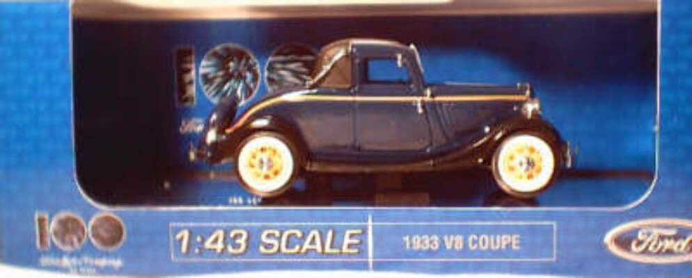 1:43 1933 V8 Coupe - Washington Blue