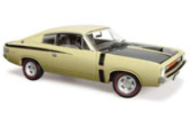 1:18 Classic Carlectable 18369 E38 R/T Big Tank Charger - Blonde Olive