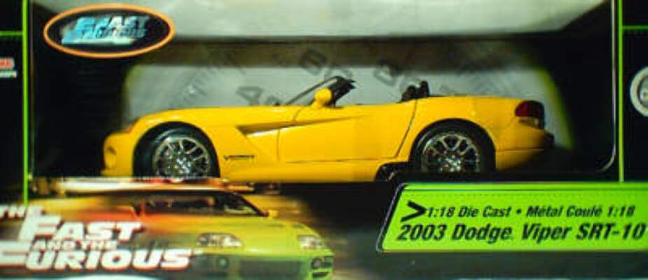 1:18 Fast and Furious 2003 Dodge Viper SRT-10