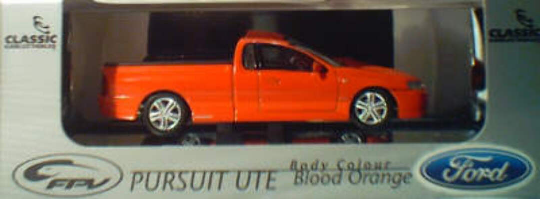 43584 2003 FPV Pursuit Ute - Blood Orange