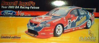 1:18 Classic Carlectable 18105 Russell Ingall SBR 2003