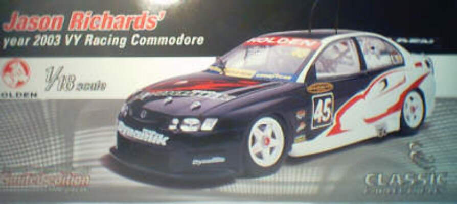 1:18 Classic Carlectable 18097 Jason Richards Dynamik 2003 VY Commodore