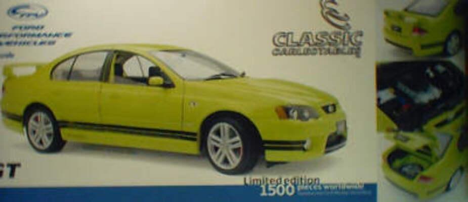 1:18 Classic Carlectable 18082 FPV BA GT Sedan Citric Acid