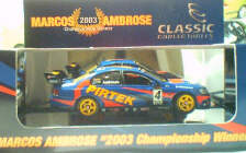 1:43 Classic Carlectables 2004-8 Marcos Ambrose 2003 Champ Winning BA