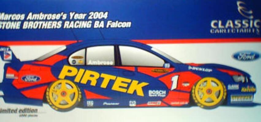 1:18 Classic Carlectable 18141 Marcos Ambrose 2004 BA Falcon