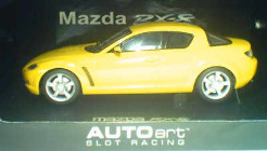 1:32 Mazda RX-8 Yellow w/Lights