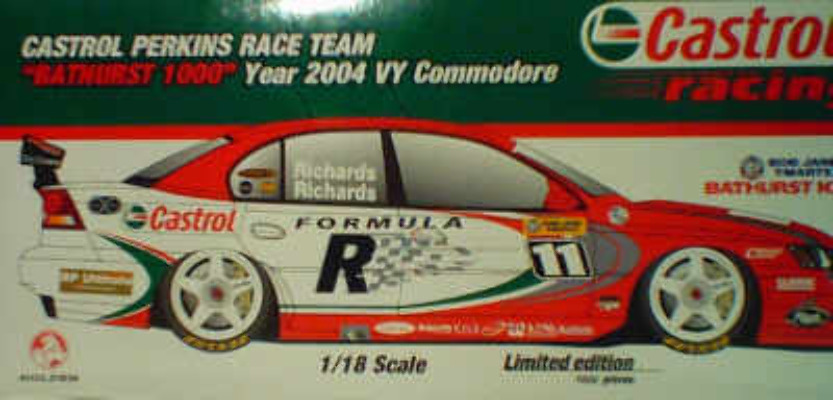 1:18 Classic Carlectable 18147 Richards/Richards 2004 Castol Bathurst