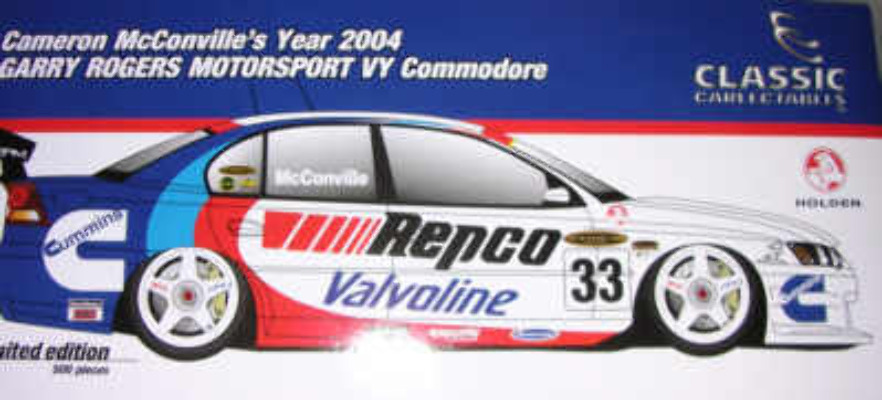 1:18 Classic Carlectable 18146 Cameron McConville 2004 VY Commodore