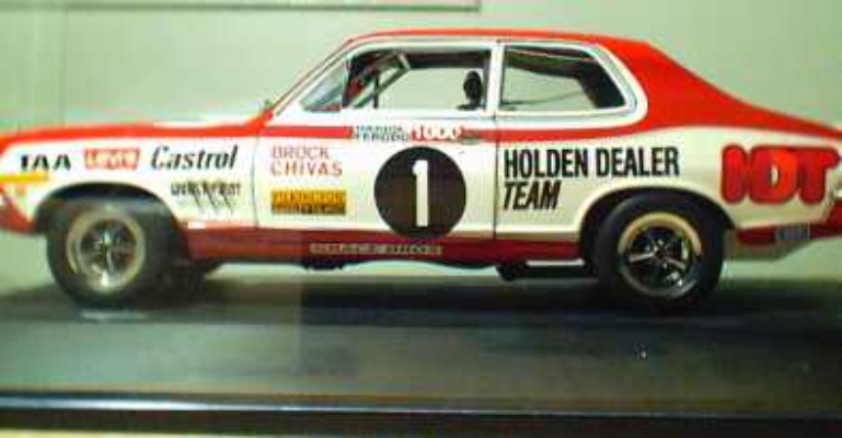 1:18 Biante  Torana XU1 - Peter Brock No.1 with display case (paint issues