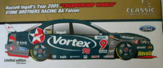 1:18 Classic Carlectable 18232 Russell Ingall 2005 Championship Win BA Falcon