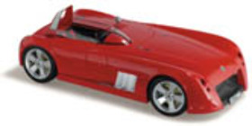 1:18 Classic Carlectable 18149 Elfin MS8 Streamliner Concept Red