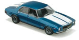 1:18 Classic Carlectable 18212 HQ GTS Sedan Cyan Blue  NO OUTER WHITE BOX