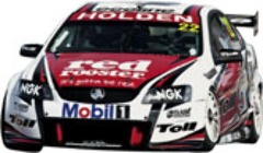 1:18 Classic Carlectable 18429 2010 Davison #22 HRT Holden