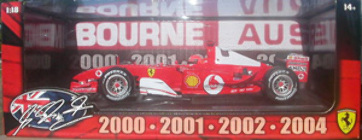 HW 1:18 Ferrari 2000-2001-2003-2004 Melbourne Australia