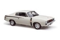 1:18 Classic Carlectable 18492 E49 Charger Alpine White 1972 small tank