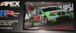 1/18 Apex Holden VE Commodore #51 Greg Murphy 2012 Clipsal 500