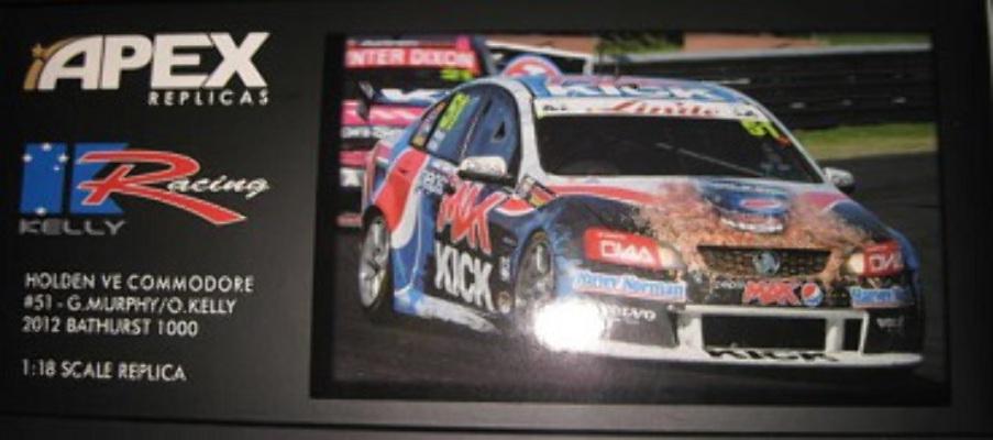 1:18 Apex Holden VE Commodore #51 Greg Murphy Owen Kelly  2012 Bathurst