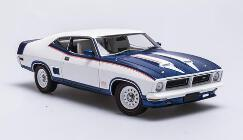 1/18 Ford XB Hardtop John Goss Special  McLeod Ford Horn Option  Apollo Blue over White
