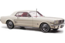 1/18 18444 Ford Mustang pony 1966 White (in stock now