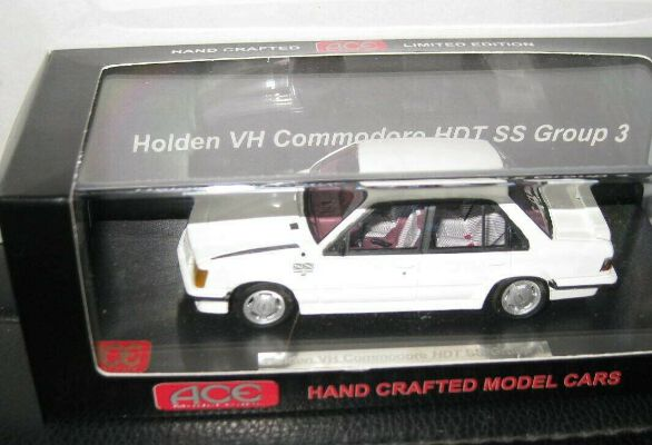 1/43 ACE HOLDEN HDT SS VH BROCK COMMODORE WHITE LTD ED OF 300