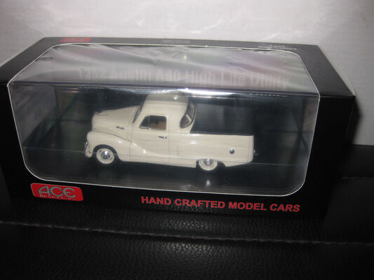 1/43 ACE MODEL CARS 1952 AUSTIN A40 HIGH LITE UTE LIGHT CREAM UTE LTD EDITION