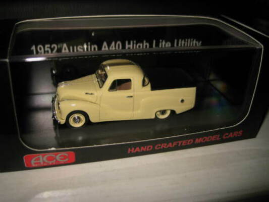 1/43 ACE MODEL CARS 1952 AUSTIN A40 HIGH LITE UTE BEIGE UTE LTD EDITION