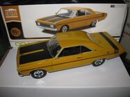 1/18 GREENLIGHT DDA 1970 CHRYSLER VALIANT VG PACER 245 HEMI HOT MUSTARD LTD ED