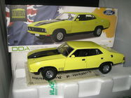 1/18 GREENLIGHT DDA 1974 FORD FALCON XB GT SEDAN YELLOW BLAZE LTD ED DDA013