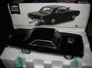 1/18 GREENLIGHT DDA 1969 CHRYSLER VALIANT VF PACER HEMI DRAG CAR BLACK LTD ED