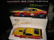 RAR DDA 1/18 1969 FORD BOSS 302 MUSTANG TRANS AM JIM RICHARDS #12 SIDCHROME