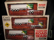 1:64 HIGHWAY REPLICAS KW BP TANKER ROAD TRAIN TRUCK & TRAILER + 2nd TRAILER
