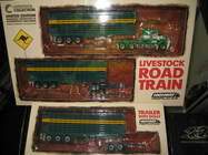 1:64 HIGHWAY REPLICAS KENWORTH LIVESTOCK ROAD TRAIN + 2nd TRAILER BASHAW #12011