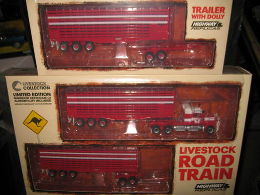 1:64 HIGHWAY REPLICAS MACK LIVESTOCK ROAD TRAIN + 2nd TRAILER BARKLY #12014