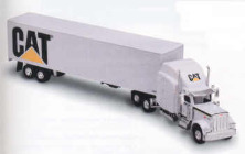 CAT 1:64 White Peterbilt Corp. Truck