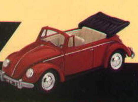 VA2000 Red VW Cabriolet