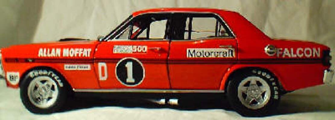 1:18 Biante Allan Moffat - XY GTHO 1972 Bath. No.1D (signed certificate)