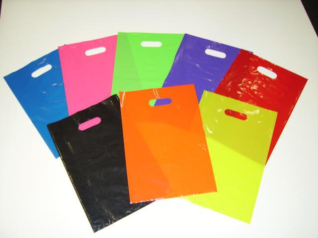 LARGE PLASTIC BAG PLAIN COLOUR