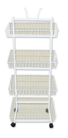 4 BASKET STAND WHITE  W4W
