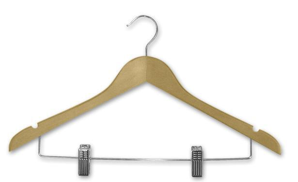 Coathanger ADULT SHIRT HANGER + CLIPS  H200N