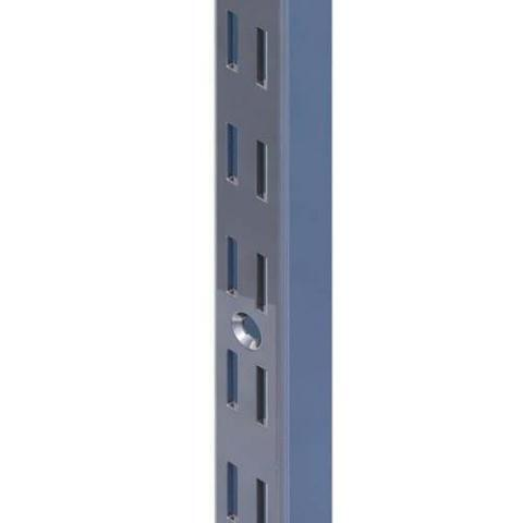 Wall Strip 2100mm Double Slot BLACK