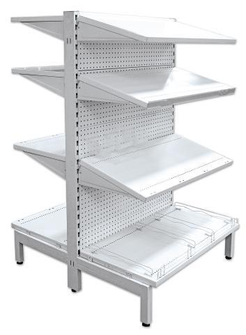 Gondola Shelving 1500 DOUBLE SIDED STARTER BAY