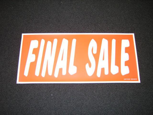 FINAL SALE POSTER RED