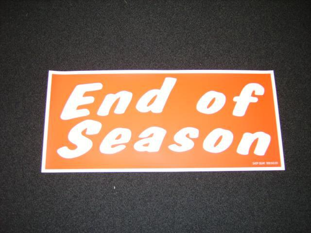 END OF SEASON POSTER RED