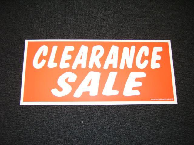 CLEARANCE SALE RED