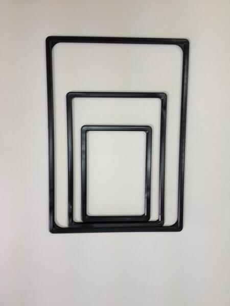PLASTIC TICKET FRAME A5 BLACK