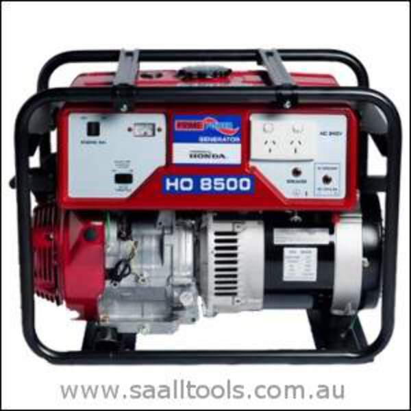 prime power ho8500 honda powered generator