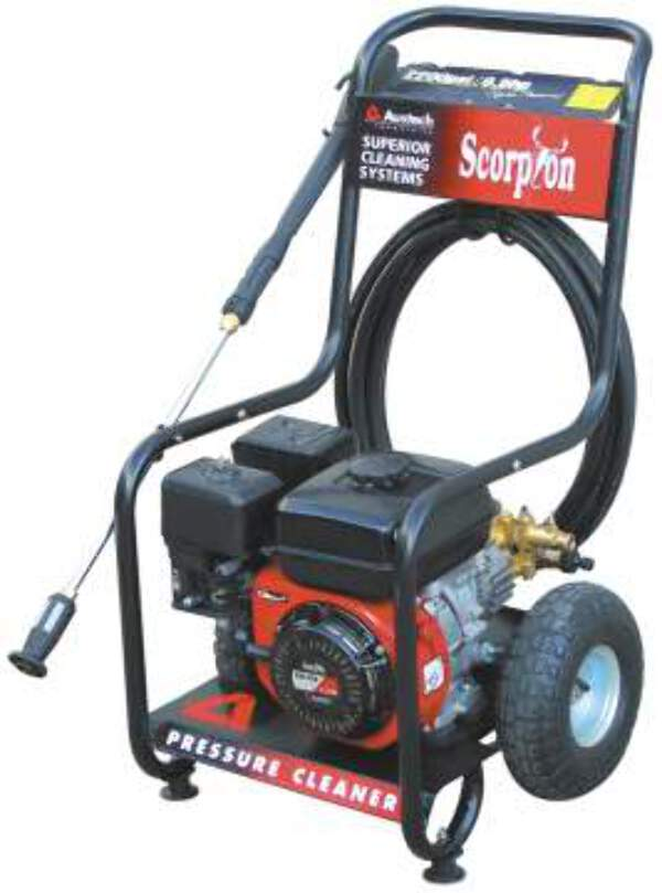 torini 6 5hp 3200psi petrol pressure washer