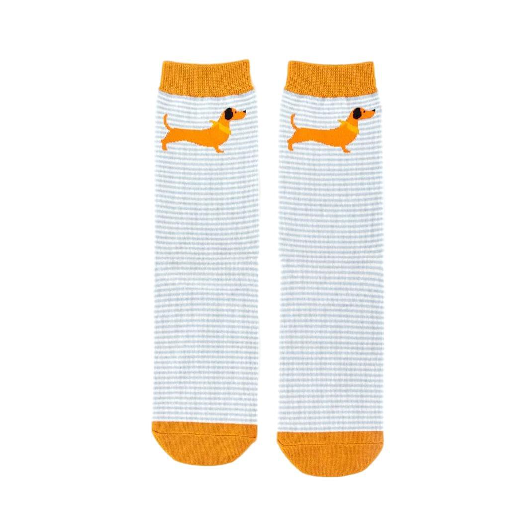 Sausage Dog Orange Womens Novelty Ankle Socks Adult One Size