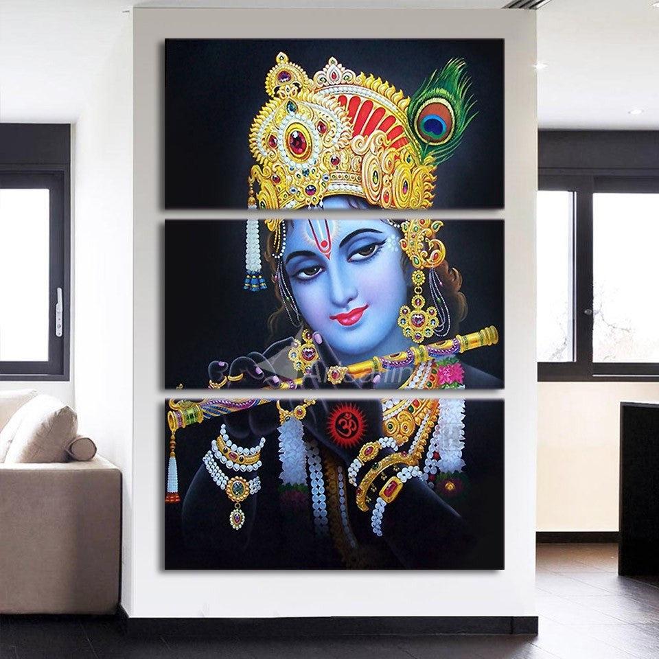 KRISHNA RADHE IN VRINDAVAN Canvas Art Print for Wall Decor Painting